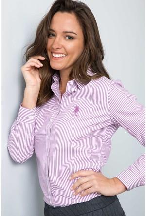 U.S. Polo Assn. Kadın Rafi-8 Gömlek Pembe