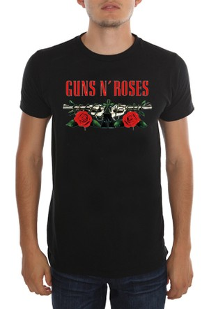 Köstebek Guns N'Roses - Red Rose Erkek(Unisex) T-Shirt