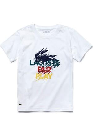 Lacoste Beyaz Çocuk T-Shirt Tj8091.001
