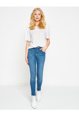 Koton Kadın Kot Pantolon Mavi