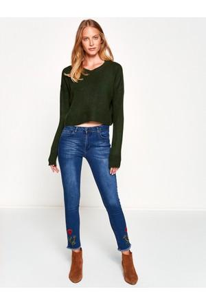 Koton Kadın Jeans Pantolon Mavi (Fahriye Evcen for Koton)