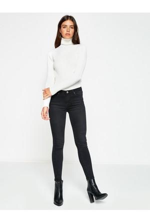 Koton Kadın Dar Kesim Jean Pantolon Siyah