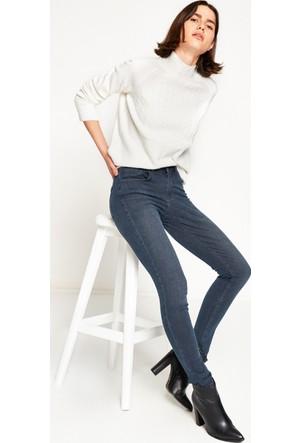 Koton Kadın Dar Paça Pantolon Mavi