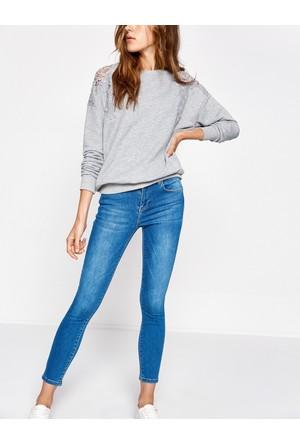 Koton Kadın Jean Pantolon Mavi
