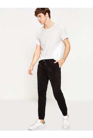 Koton Erkek Beli Bağlamalı Pantolon Siyah