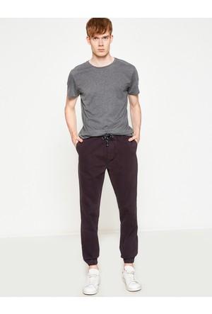 Koton Erkek Beli Bağlamalı Pantolon Gri