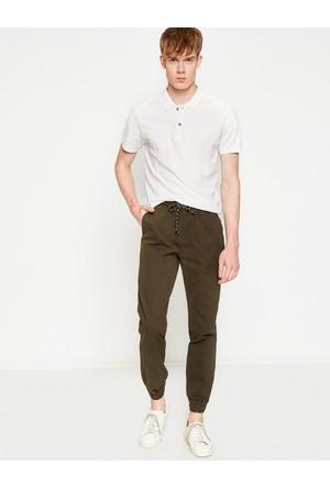 Koton Erkek Beli Bağlamalı Pantolon Yeşil
