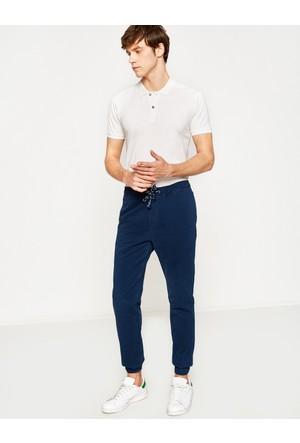 Koton Erkek Beli Bağlamalı Pantolon Mavi