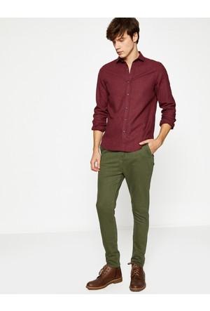 Koton Erkek Dar Kesim Pantolon Yeşil