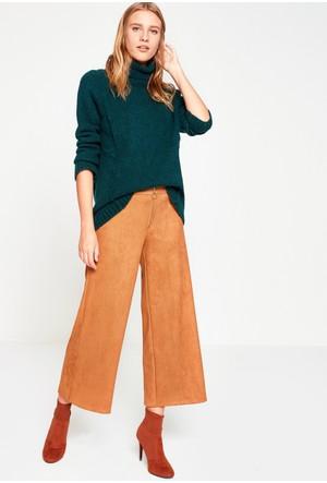 Koton Kadın Geniş Paça Pantolon Kahverengi