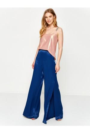 Koton Kadın Geniş Paça Pantolon Lacivert