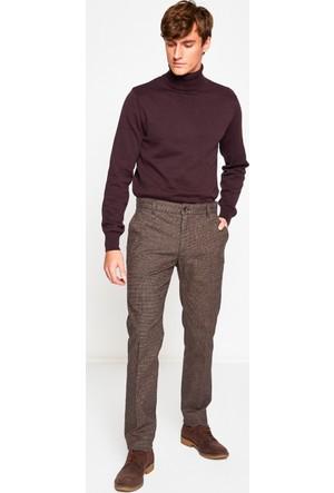 Koton Erkek Normal Bel Pantolon Kahverengi