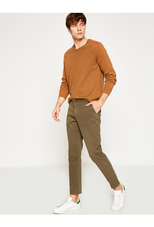 Koton Erkek Normal Kesim Pantolon Yeşil