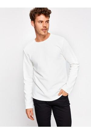 Koton Erkek Bisiklet Yaka T-Shirt Beyaz