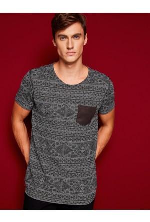 Koton Erkek Cep Detaylı T-Shirt Gri