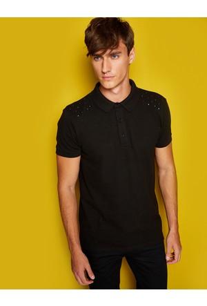 Koton Erkek Polo Yaka T-Shirt Siyah