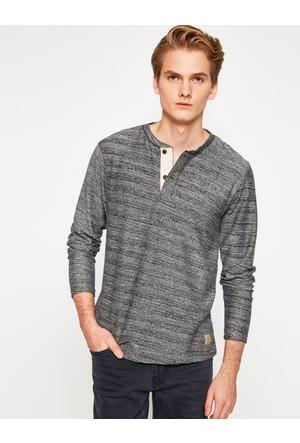 Koton Erkek Uzun Kollu T-Shirt Lacivert