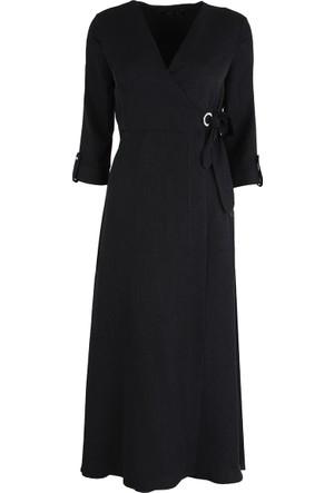 Ayhan Bayan Elbise Siyah 60801