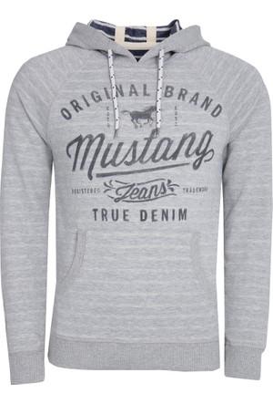 Mustang Erkek Sweatshirt Gri Melanj 04M00113160