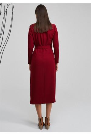 Femme V Yaka Elbise