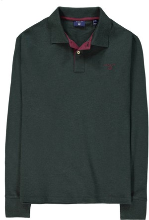 Gant Piqué Rugger Erkek Yeşil Polo 255105.396