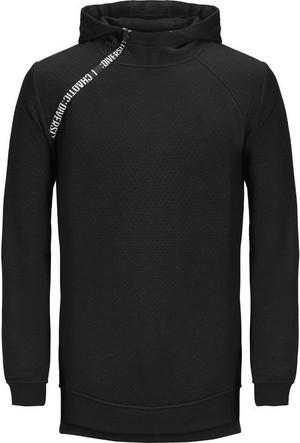 Jack & Jones Sweatshirt Jcokari Hood 12128572-BLK