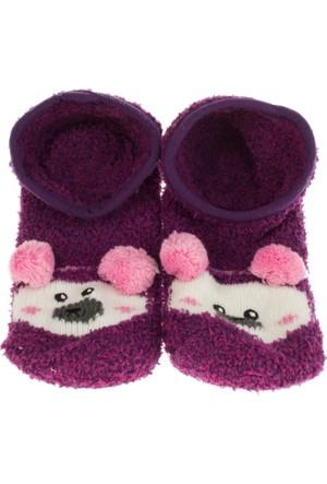 Twigy L0729 Tw Karenza Kadın Bordo Ev Çorabı