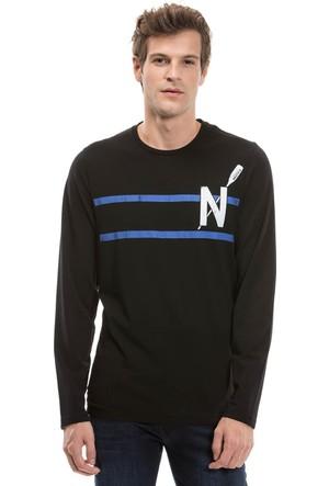 Nautica Uzun Kollu Düz Siyah Erkek Sweat Shirt V73961T.0Tb