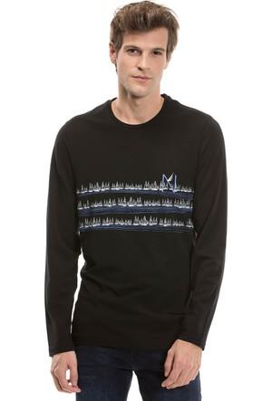 Nautica Uzun Kollu Düz Siyah Erkek Sweat Shirt V73964T.0Tb