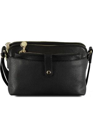 Marjin Ligte Günlük Postacı Çanta Siyah