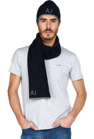 Armani Jeans Erkek Atkı Bere Set