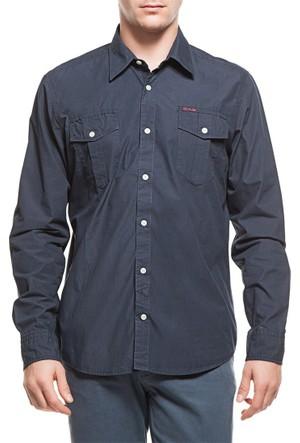 2AS Lamas Shirt Erkek Lacivert Gömlek 2ASS14004001544