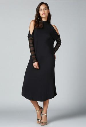Quincey Omuz Detaylı Elbise