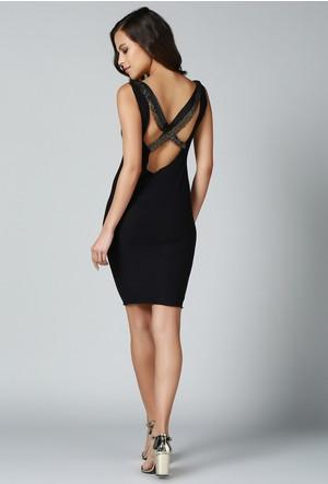 Quincey Sırt Detaylı Elbise