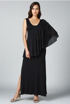 Quincey Tül Şallı Elbise