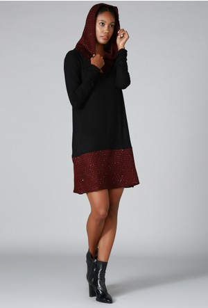 Quincey Triko Tunik Elbise