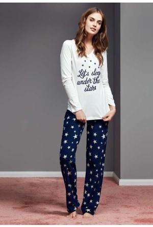 Catherine'S 1121 Uzun Kollu Kadın Pijama Takımı