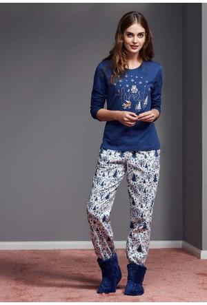 Catherine'S 1124 Uzun Kollu Kadın Pijama Takımı