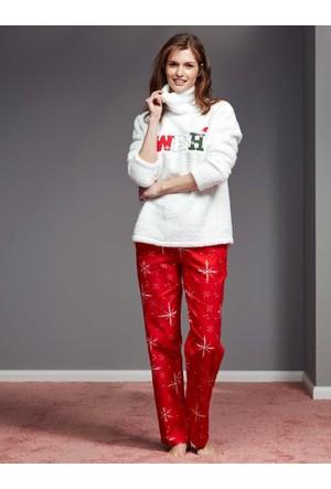 Catherine'S 1132 Uzun Kollu Kadın Pijama Takımı