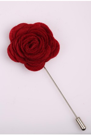 La Pescara Kırmızı Özel Tasarım Yaka Çiçeği Yc0124