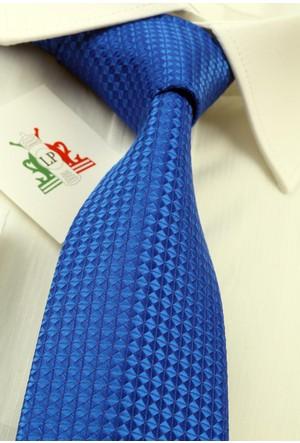 La Pescara Mavi Nokta Desen Slim Kravat 6013