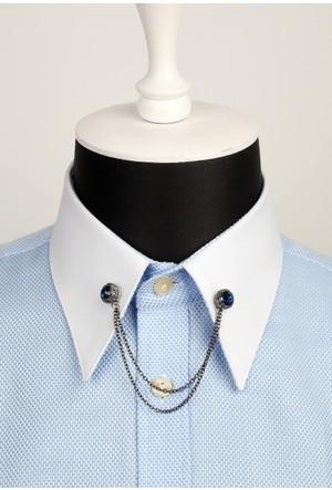 La Pescara Taşlı Zincirli Gömlek Yaka İğnesi Gı052