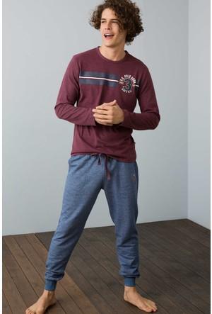U.S. Polo Assn. Yuvarlak Yaka Pijama Takım