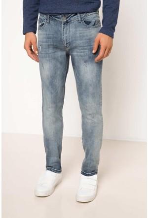 DeFacto Erkek Pedro Ekstra Slim Pantolon Açık Mavi