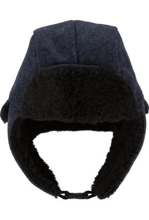 DeFacto Erkek Kulaklıklı Kışlık Şapka Lacivert