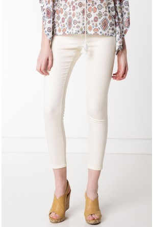 DeFacto Kadın Süper Skinny Pantolon Ekru
