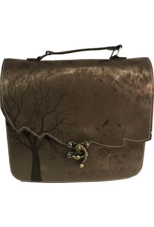 Çanta Stilim Bakır Renk Nubuk Deri 2422-Bk El Ve Çapraz Bayan Çantası