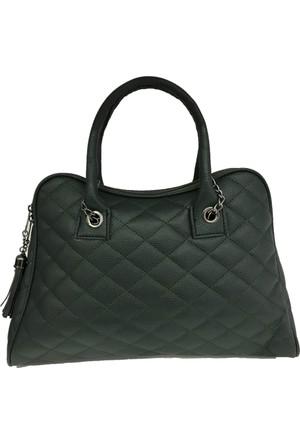 Çanta Stilim Yeşil Renk Suni Deri 7039-Y Zincirli Askılı El Ve Kol Bayan Çantası