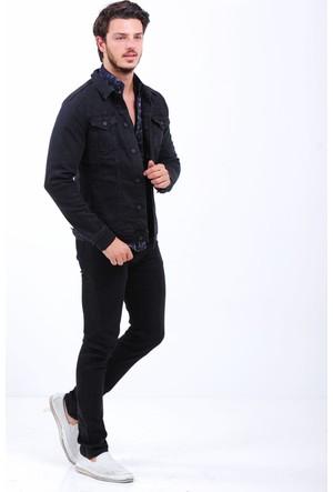 Vavin Çift Cep Siyah Kot Ceket
