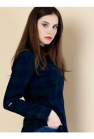 Colin's Lacivert Kadın Gömlek Uzun kol